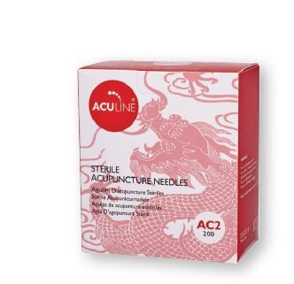 Aculine Copper Handle Needle (200 needles with guide tube)