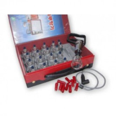 Acurea Hand Pump Plastic Cupping Set (19 cups + 10 magnets)