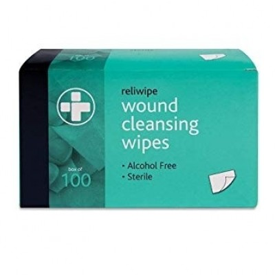 Reliwipe Wound Cleansing Wipes (Box Of 100)