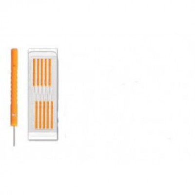 Aculux Orange Plastic Handle Detox Needle (500 needles per box)