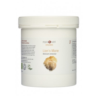 MycoNutri Organic Lions Mane powder 200g (Hericium erinaceus)